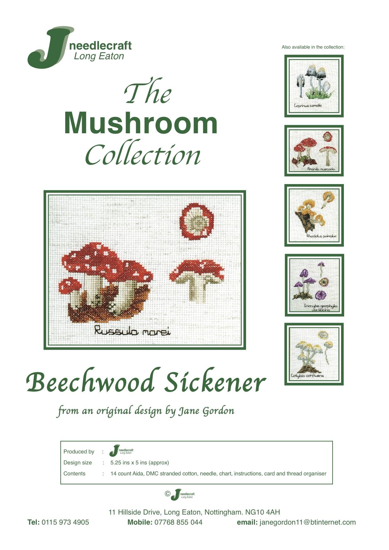 Beechwood Sickener Mushroom Cross stitch Kit