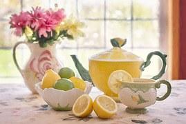 Lemon tea makes a refreshing drink