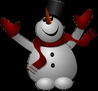 A cheerful snowman graphic